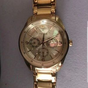 Women's Fossil Rose Gold & Pearl Watch Stainless